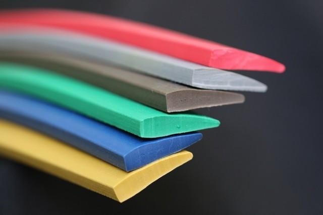 Perfil de plástico pvc