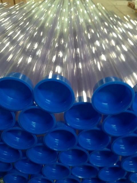 Tubo plástico cristal